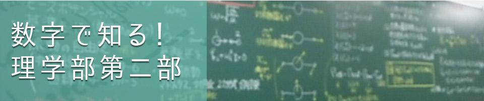 数字で知る!理学部第二部